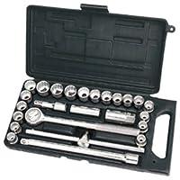 Draper DIY Series 07393 1/2-inch Drive Socket Set (25 Pieces)