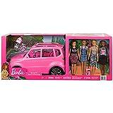 Barbie バービー  SUV車とドール4体コンプリートセット