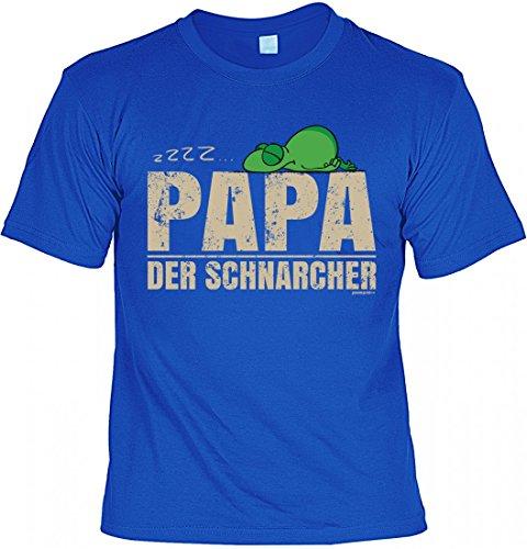 T-Shirt Vater - ZZZZ - Papa der Schnarcher - Geschenk Idee mit Humor zum Vatertag oder Geburtstag - royalblau