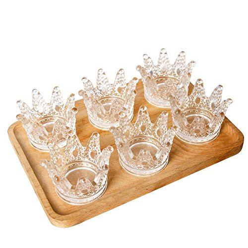 - LOLPI Crystal Glass Ashtray, Mini Crown Glass Candlestick Ashtray, Crafts Ashtray, Can Be Used As a Decoration or As a Gift to Send Friends (Set of 6)
