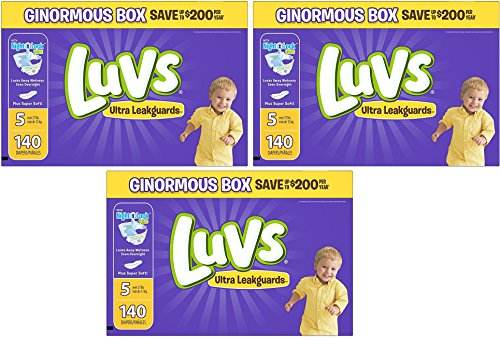 Luvs Ultra Leakguards GHIeqK Diapers, Size 5 (3 Pack) by Luv