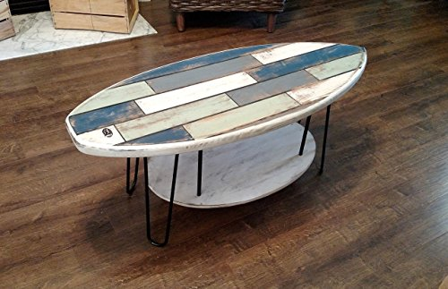 Ordinaire 44u2033 Faux Pallet Wood Surfboard Coffee Table