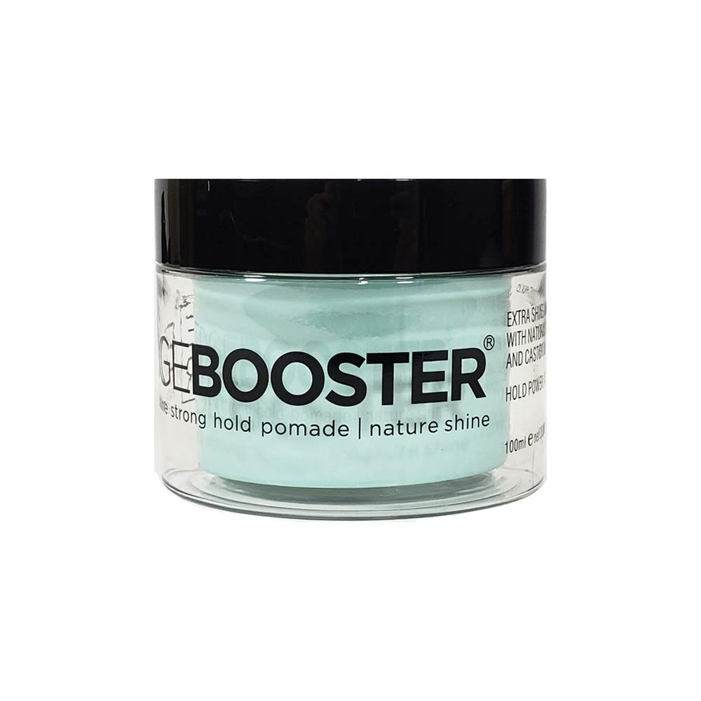 Style Factor EDGE BOOSTER Extra Shine Strong Hold Pomade 3.38 oz (NATURE SHINE)