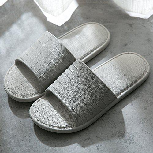 home pantofole raffreddare bagno coppie in plastica anti 40 estate grigio pantofole uomini 39 Presidente bagno fankou donne slip home interno home xPF6fqa