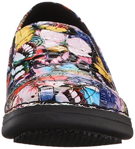 Shoe Step Multi Work Butterfly Spring Crocodile Blue Ferrara Women's dSwqIP