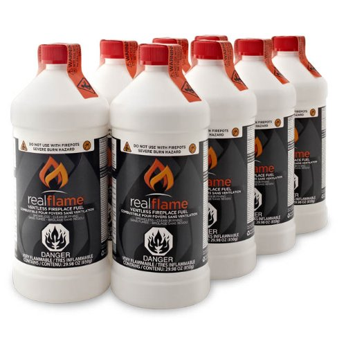 - Real Flame 2264 Ventless Fireplace Fuel, 8-Pack