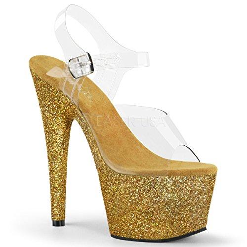 Pleaser Women's Adore-708HMG Ankle-Strap Sandal - Couture Cream Couture Body