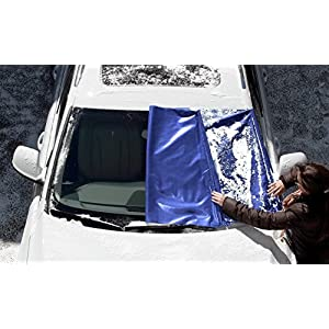 FrostGuard Premium Winter Windshield Cover, Blue (XL)