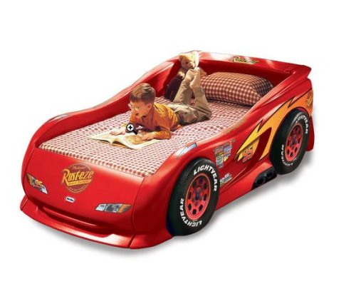 amazoncom little tikes lightning mcqueen race car twin bed toys games