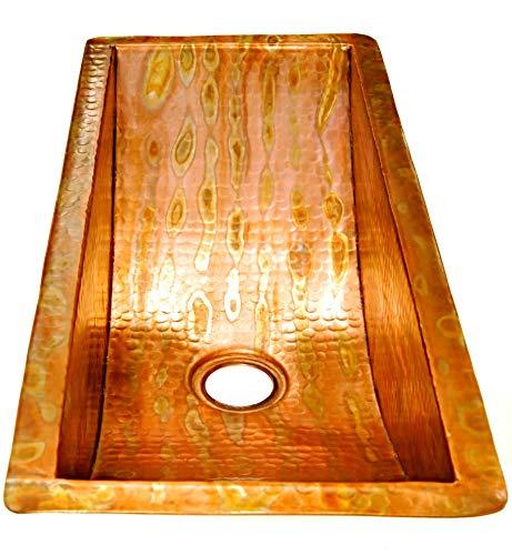 Bar Trough - Rectangular Trough Copper Bar Sink
