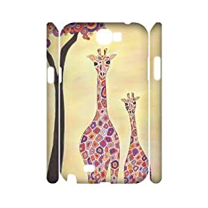 HXYHTY Giraffe 2 Phone 3D Case For Samsung Galaxy Note 2 N7100 [Pattern-5]
