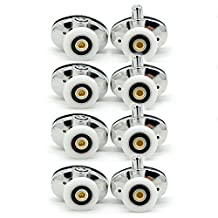 Set of 8 new Oval butterfly single wheel Shower door rollers 23mm