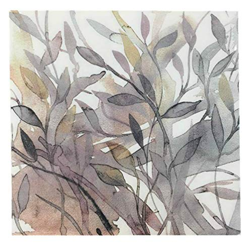 Eightmood Bulk Count 3-Ply Lunch Dinner Buffet Paper Napkins, Leaf Stems (90 Count Lunch: 3 Packages of 30 Count ()