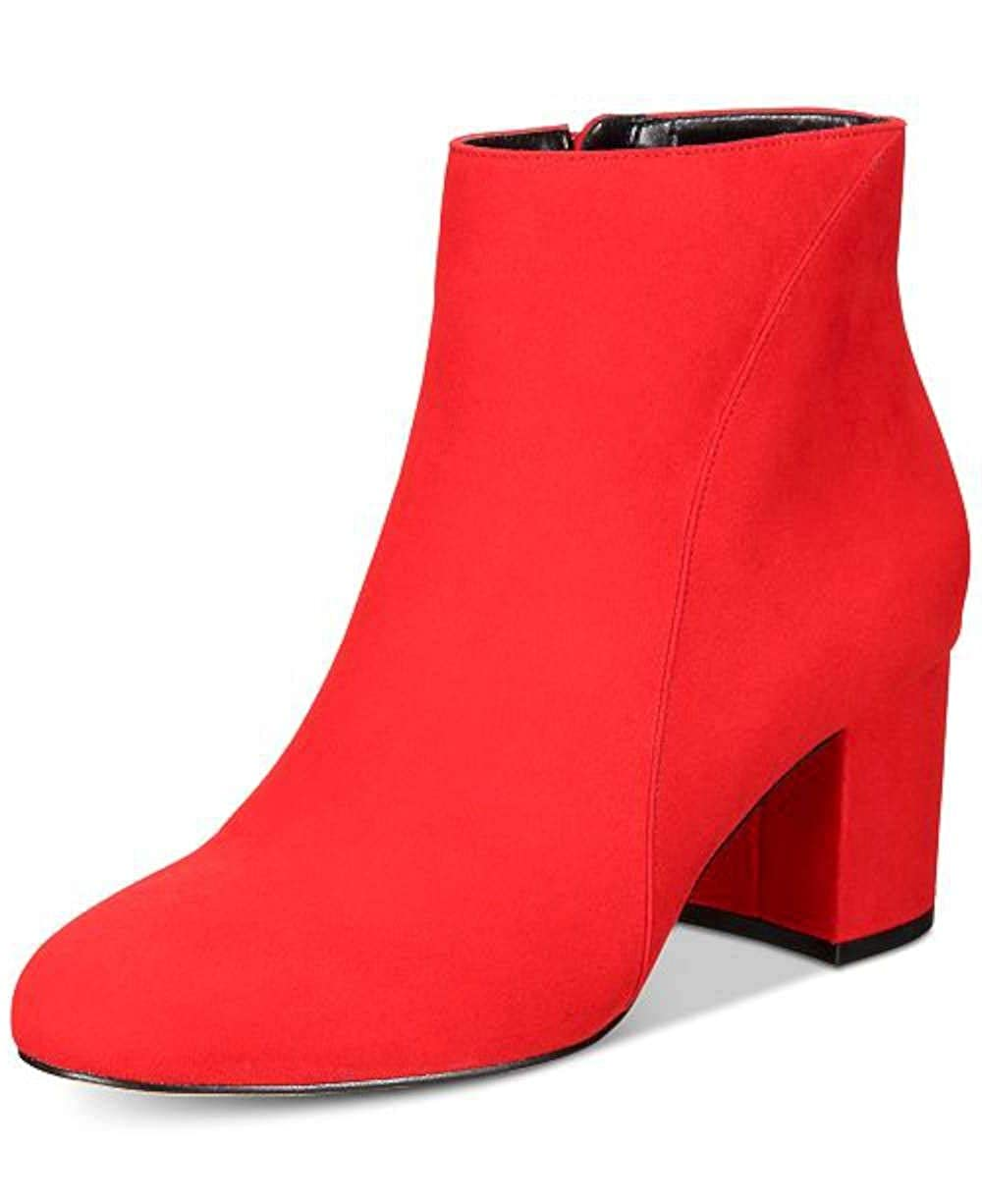 Red Lava INC International Concepts Womens Floriann Leather Almond Toe Ankle Fashion B.