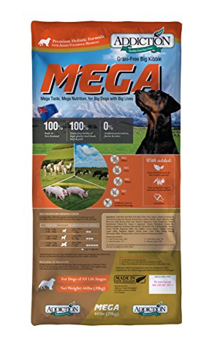Addiction Pet Foods Mega Grain Free Dry Dog Food,...