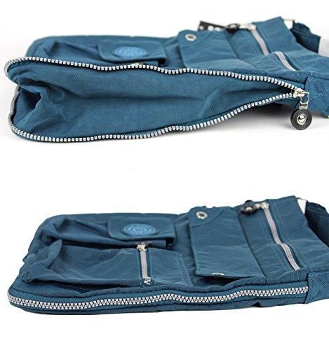 Bag Street - Bolso cruzados de nailon para mujer azul