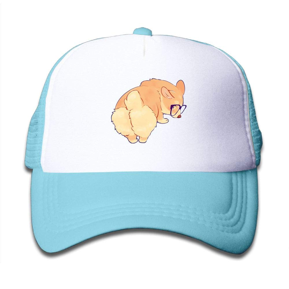 Clarissa Bertha Cute Corgi Butt Sunglass Kids Boys' Girls' Baseball Caps Mesh Hats