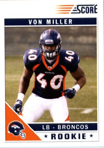 2011 Panini Score Glossy Football Rookie Card #400 Von Miller