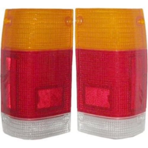 1986-1993 Mazda Pickup Truck B2000 B2200 B2600 Taillight Taillamp Rear Brake Tail Light Lamp LENS ONLY Pair Set: Left Driver And Right Passenger Side (1986 86 1987 87 1988 88 1989 89 1990 90 1991 91 1992 92 1993 93)