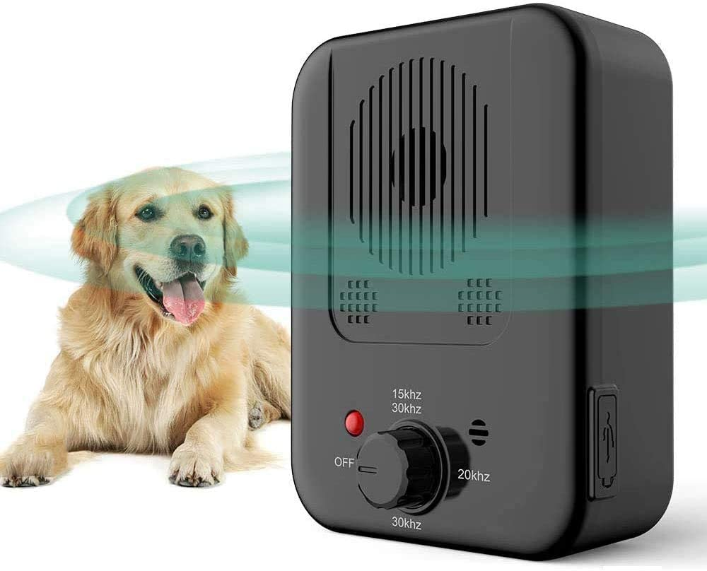 Zigzagmars Anti Barking Device, Safety Stop Dog Barking Ultrasonic Bark Control Devices, Durable Waterproof 50FT Range for Small Medium Large Dogs