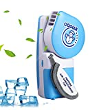 LUCKSTAR Handheld Cooler Fan, Small Fan Mini Air Conditioner Speed Adjustable Portable Cooler Fan With Water Bottle Powered by Batteries or USB Cable for Home / Office / Travel / Outdoor (Blue)