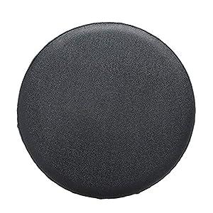 Tianmen – Funda para taburete redondo de piel sintética resistente al desgaste para silla de oficina, para cafetería, librería, restaurante, negro, 40 cm