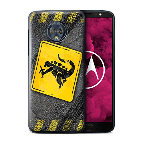 STUFF4 Phone Case/Cover for Motorola Moto G6 2018/Godzilla Design/Funny Road Signs Collection