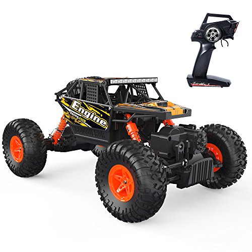 DEERC Remote Control Car 4WD Off Road RC Cars 1/18 Scale Monster Truck for Adults RTR Crawler Vehicle 2.4GHz Radio Controlled High Speed Toys for Boys and Girls