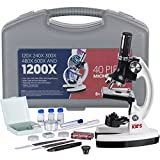 Kyпить AMSCOPE-KIDS M30-ABS-KT1-W-I 120X-240X-300X-480X-600X-1200X 48pc Metal Arm & Base Educational Kids Biological Microscope Kit на Amazon.com