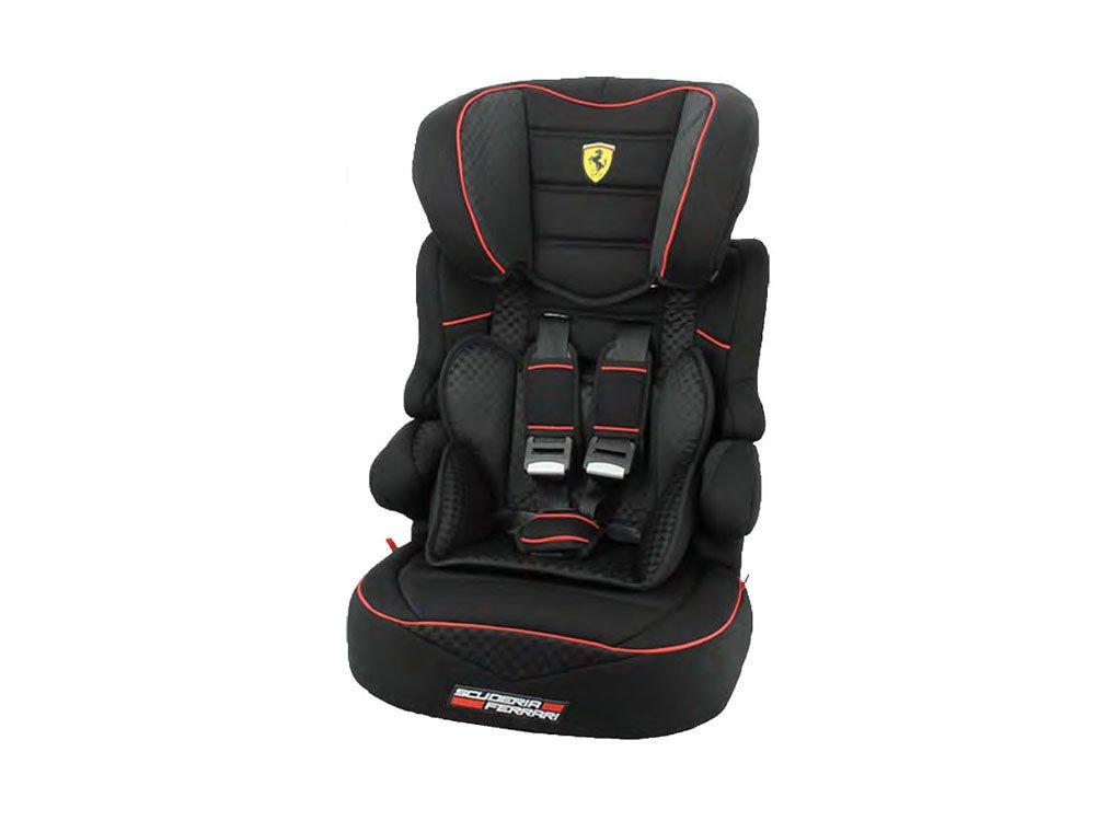 Ferrari GT BLACK Kindersitz KINDER Originelle AUTOSITZ BABY SITZ GRUPPE 1/2/3 - 9-36 kg NEU TEAMTEX 583054