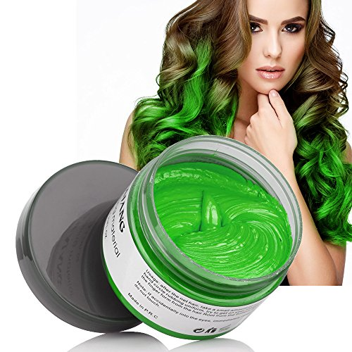 MS.DEAR Instant Hair Wax, Temporary Hairstyle Cream 4.23 oz, Cyan, Green Hair Pomades, Natural Hairstyle Wax for Men and Women (Cyan)