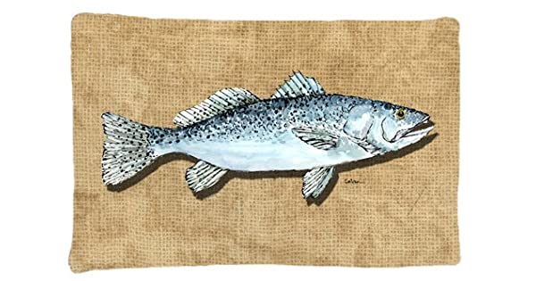 Multicolor Large Carolines Treasures 8809PILLOWCASE Speckled Trout Moisture Wicking Fabric Standard Pillowcase