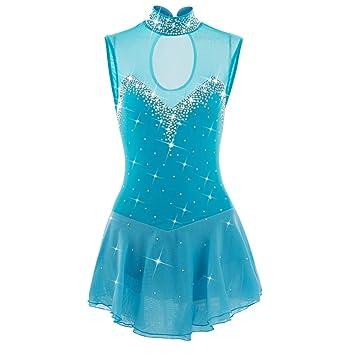 Vestido de Patinaje Artístico para Mujer / Vestido de Gimnasia para Niñas Ropa de Patinaje de