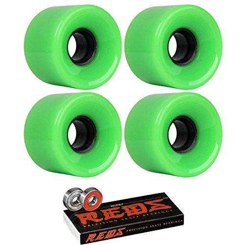 菊フライトスケートボードクルーザーWheels 59 mm x 43 mm 78 a 802 CグリーンBones Redsベアリング