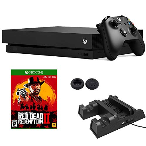 Microsoft Xbox One X 1 TB Red Dead Redemption 2 & Cooling Fan with Charging Station Bundle