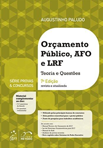 Provas & Concursos. Orçamento Público, AFO e LRF