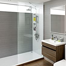900 mm Luxury Easy Clean Walk In Wetroom Shower Enclosure Glass Screen by iBathUK