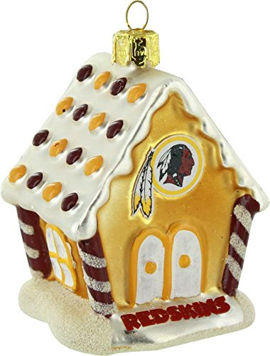 NFL Washington Redskins Gingerbread House Ornament