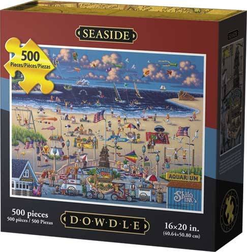 Jigsaw Puzzle - Seaside Oregon 500 Pc By Dowdle Folk Art