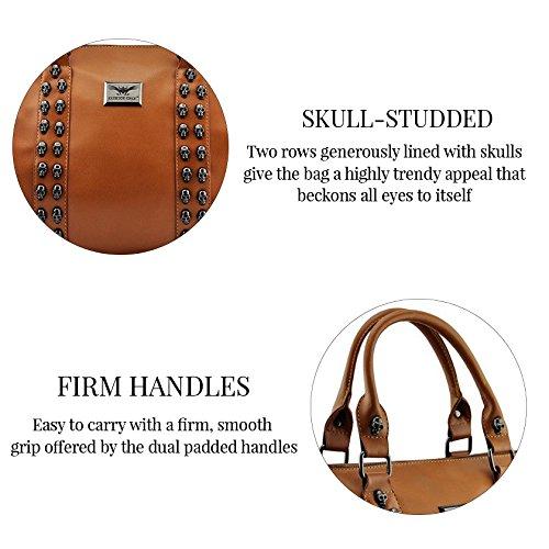 Asa De hombro Trendstar En La parte superior De La moda De las mujeres bolsos De mano, piel sintética, ORT.K7051-Petate Célébrité Style A D - Tan