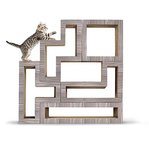 KATRIS Modular Cat Scratching Furniture - 5 Blocks Bundle Wood Drift