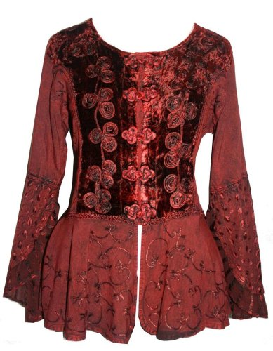 503 B Rich Luxury Medieval Renaissance Blouse Top (XL/1X, ()