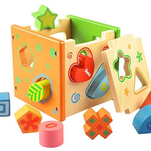 Sealive Puzzle Intelligence Box Geometry Building Baby Early Childhood Cognitive Enlightenment Children'S Toys Wooden Cube Color - Found Usps Tracking Not