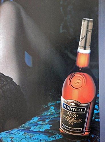 Martell V S Cognac, Vintage Print Ad. Color Illustration,(woman and bottle) Original Vintage Magazine Art