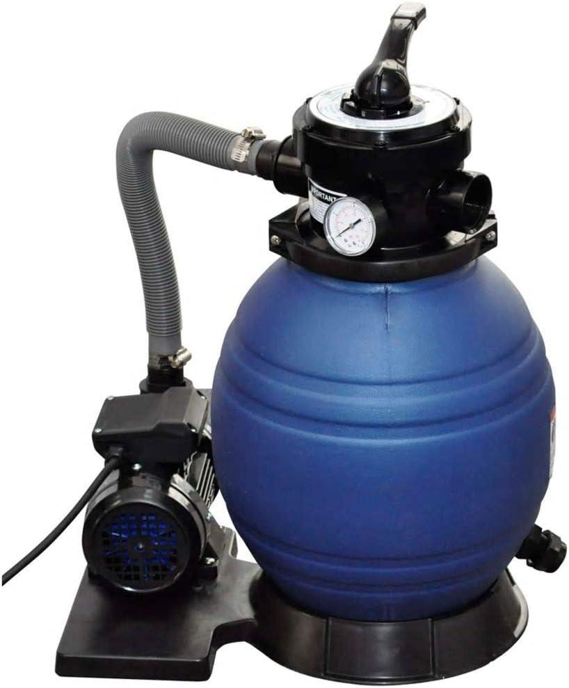mewmewcat Bomba de Filtro de Arena 400 W 11000 l/h Azul 298 x 458 x 621 mm