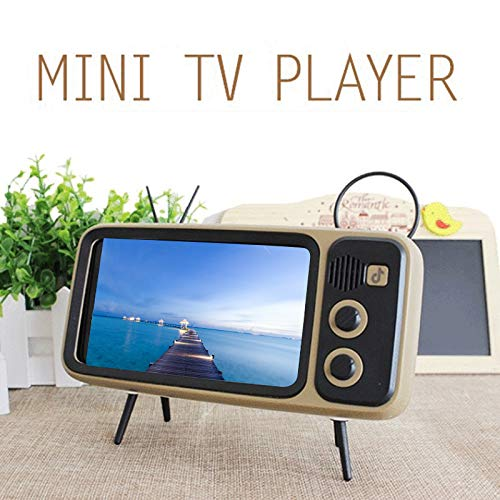 Dirkfigge Retro Tv Design Bluetooth Speaker Cellphone Stand Function Portable Stereo Speaker Mobile Phone Mount Buy Online In Czech Republic Dirkfigge Products In Czech Republic See Prices Reviews And