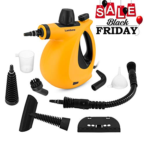 Lambow Handheld Pressurized 9 in 1 Steamer Steam Cleaner with