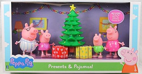 Peppa Pig Exclusive (Presents & Pajamas) Figure Set (Best Price Peppa Pig Toys)