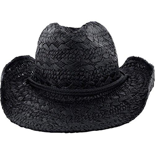 (Beth Sport Ladies COWBOY Western Shapeable STRAW HAT Panama Raffia Sun Rodeo Concho Cap)