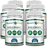 Research Verified Body & Breath Natural Deodorant & Freshener - Bad Breath & Body Odor Supplement - Provides Relief from Offensive Smells While Balancing Good Bacteria - 6 Bottles (6 Month Supply)